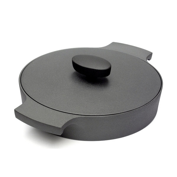 pan with lid,circular,cast iron