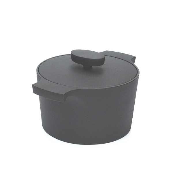pot with lid,circular cast iron